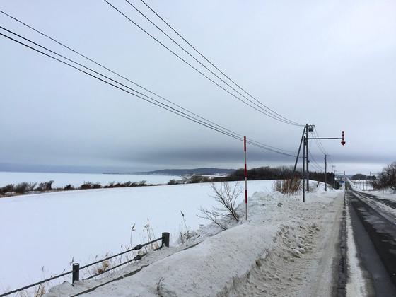流氷接岸-北見市常呂