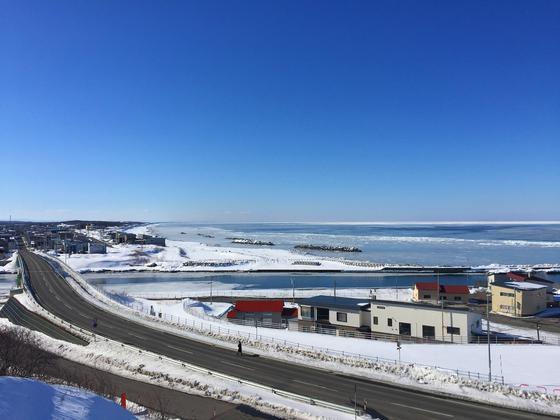 流氷に近い住宅地ー北見市常呂町