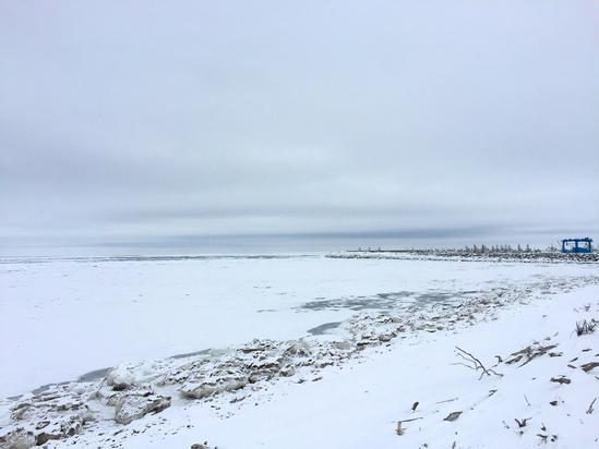 流氷ー北見市常呂漁港 北見市常呂町