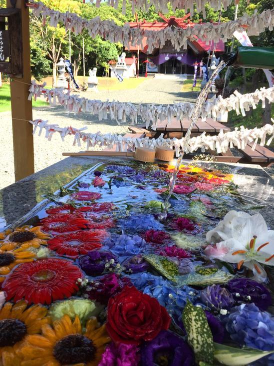 花の龍神の水 常呂神社