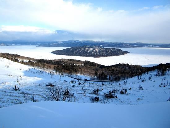 美幌峠 真冬の屈斜路湖