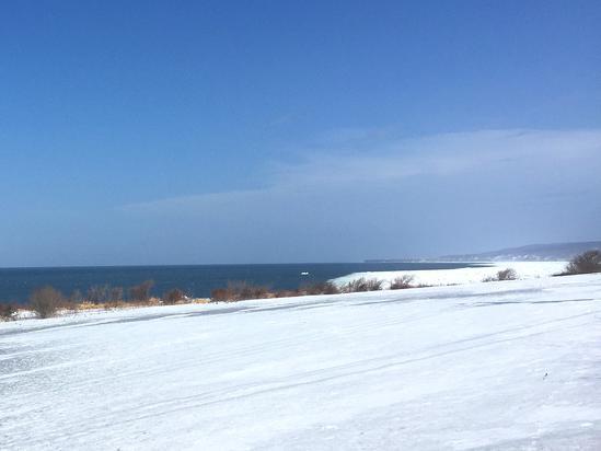 初春の流氷 北見市常呂