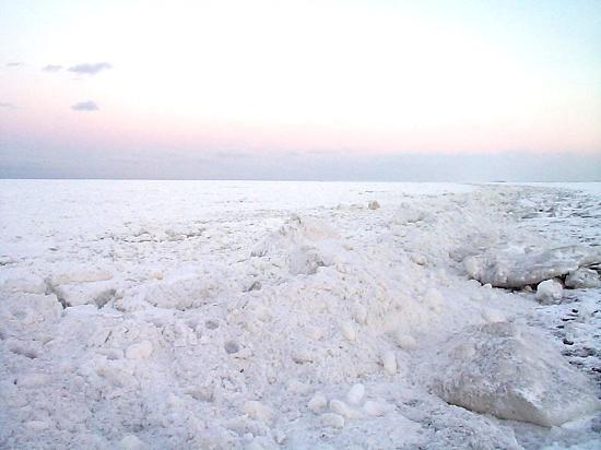 流氷 サロマ湖 龍宮台展望台 湧別町
