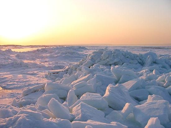 流氷 小清水町浜小清水 フレトイ展望台