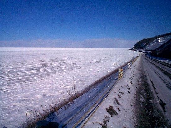 流氷 国道334号線沿い 斜里町